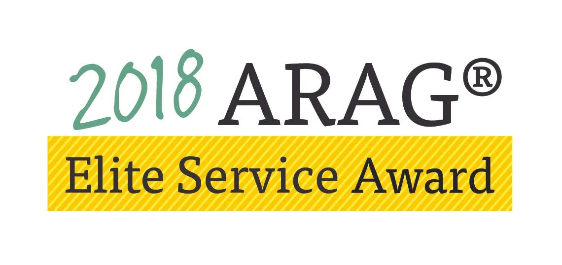The Collier Law Firm was awarded the 2018 ARAG Elite Service Award.